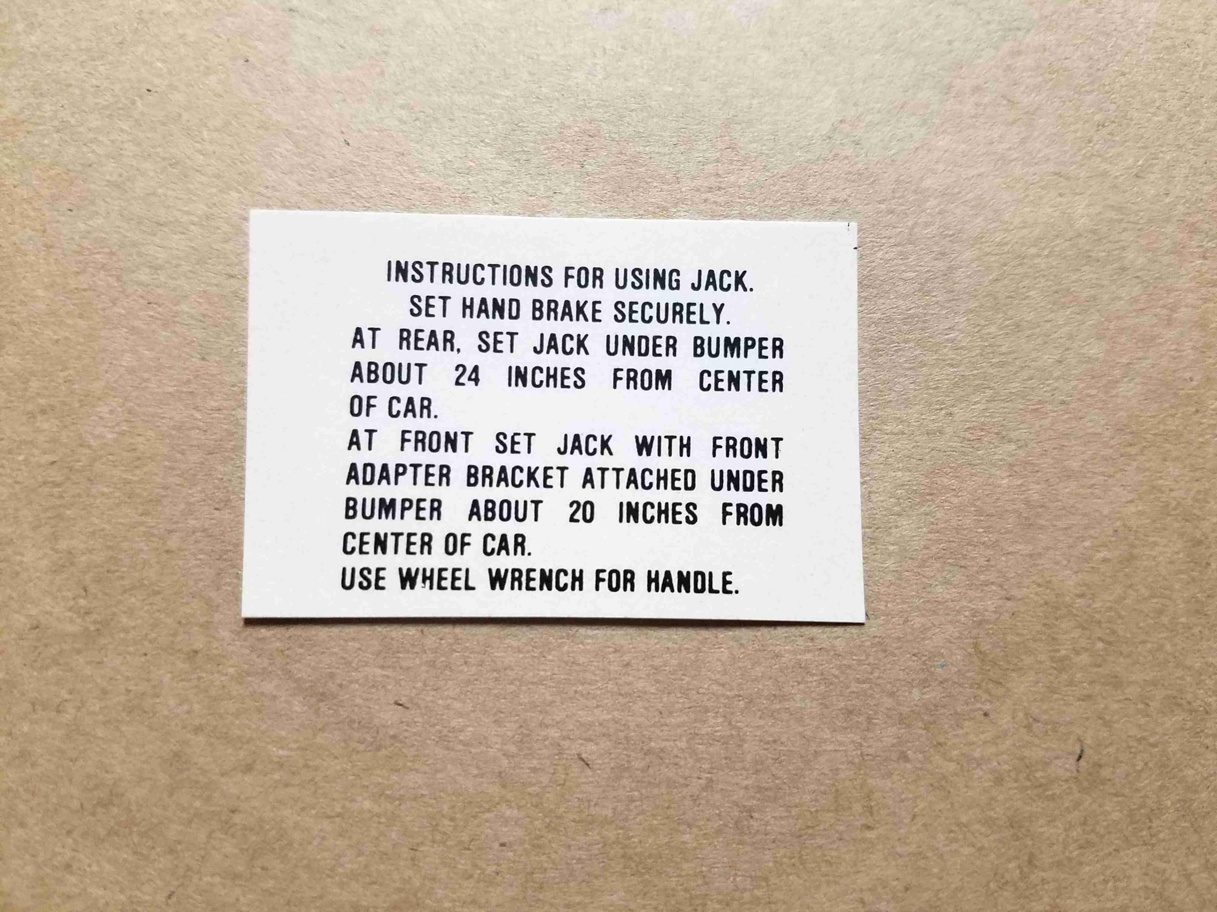 1955 Jack Base Decal