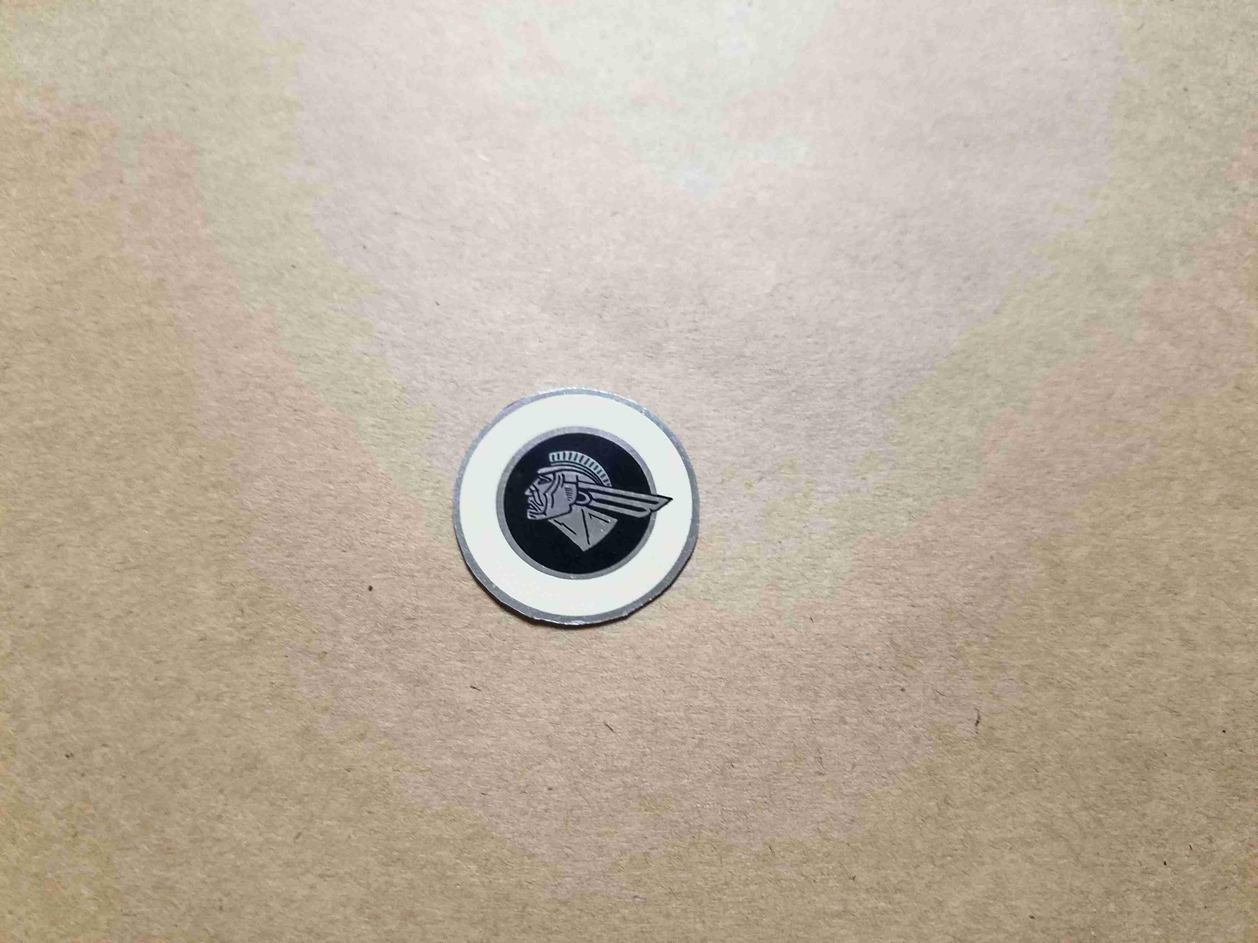 1953-60 Round Indian Head Tissue Dispenser Decal
