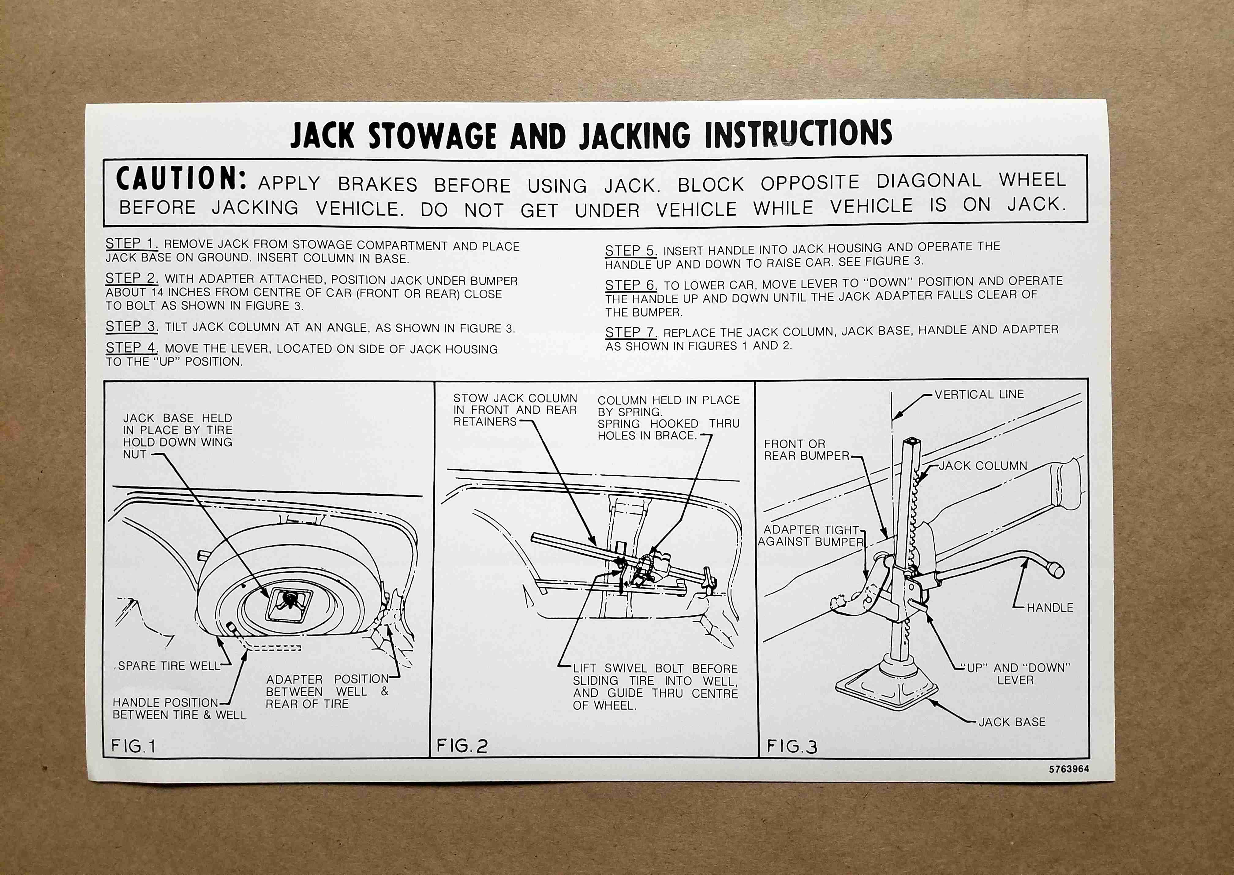 1958 Jack Instruction Card, on card: 5763964