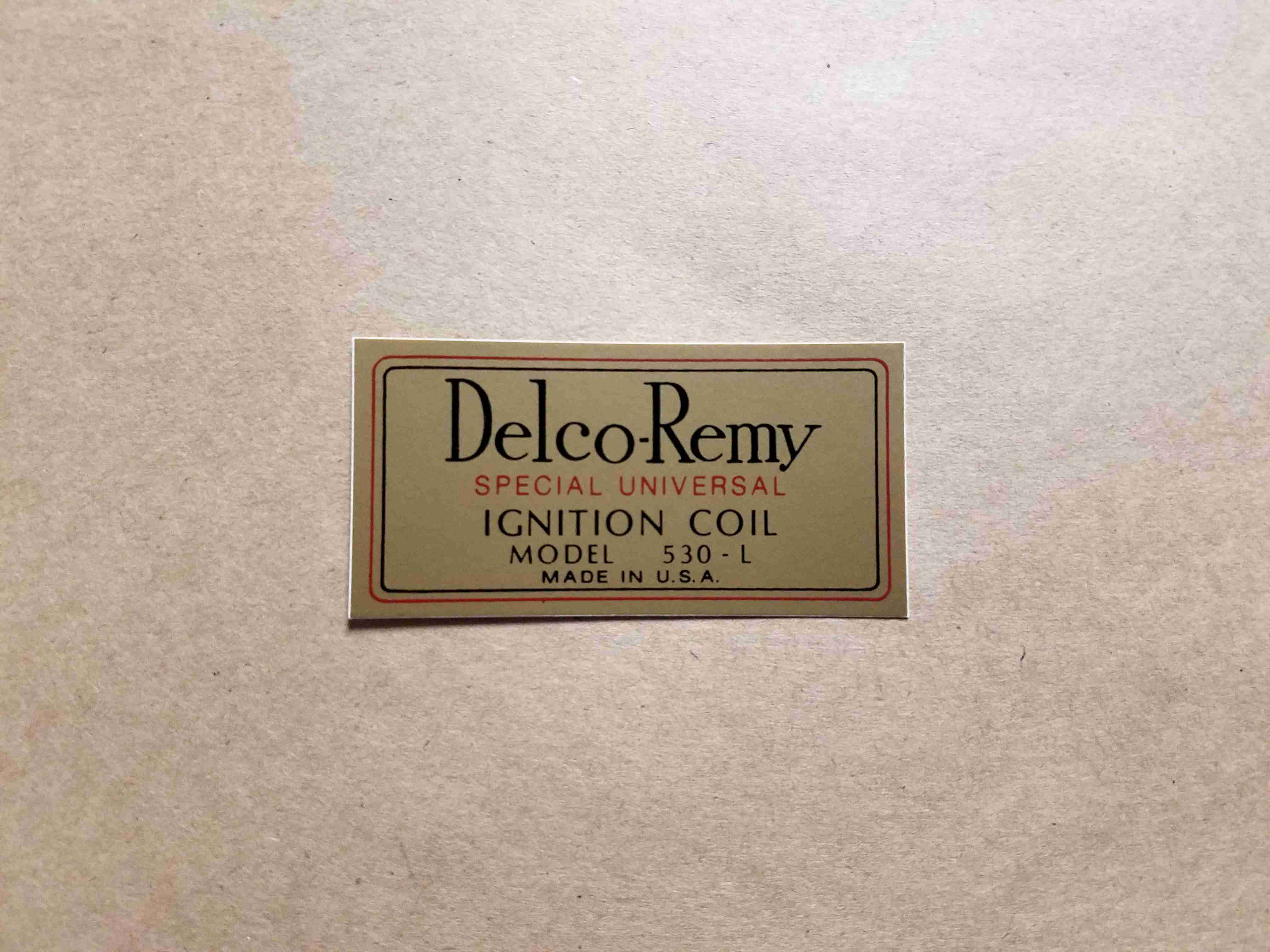 1926-33 Delco-Remy Coil Decal
